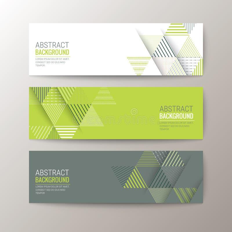 Bannersmalplaatje met de abstracte achtergrond van het driehoekspatroon vector illustratie