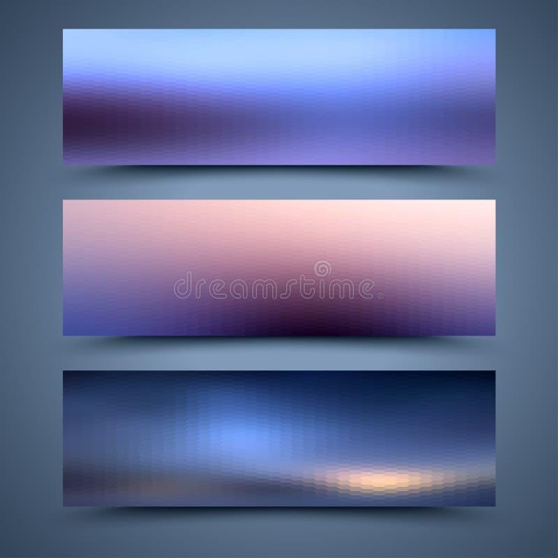 Bannersmalplaatjes. Abstracte achtergronden stock illustratie