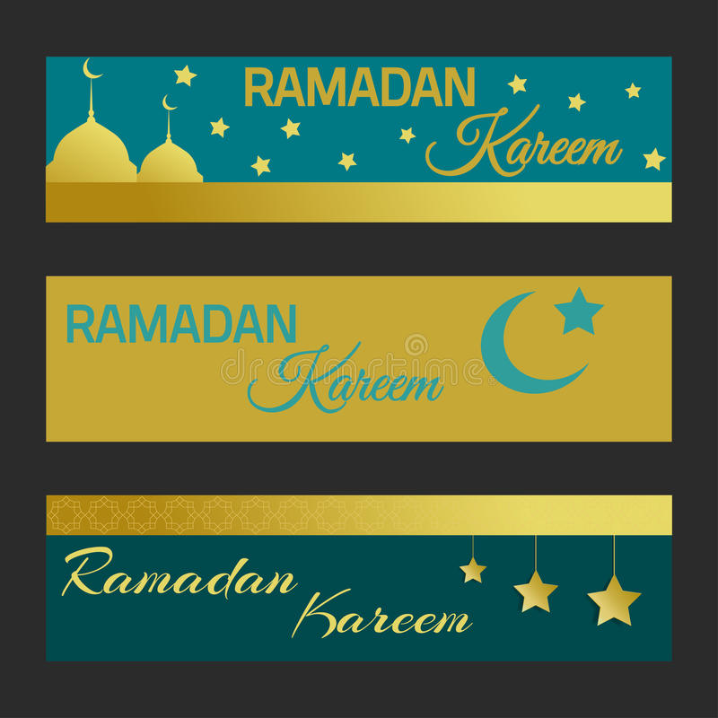 Bannes de Ramadan Kareem fotos de stock royalty free