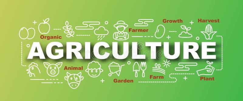 Bannière à la mode de vecteur d'agriculture illustration de vecteur