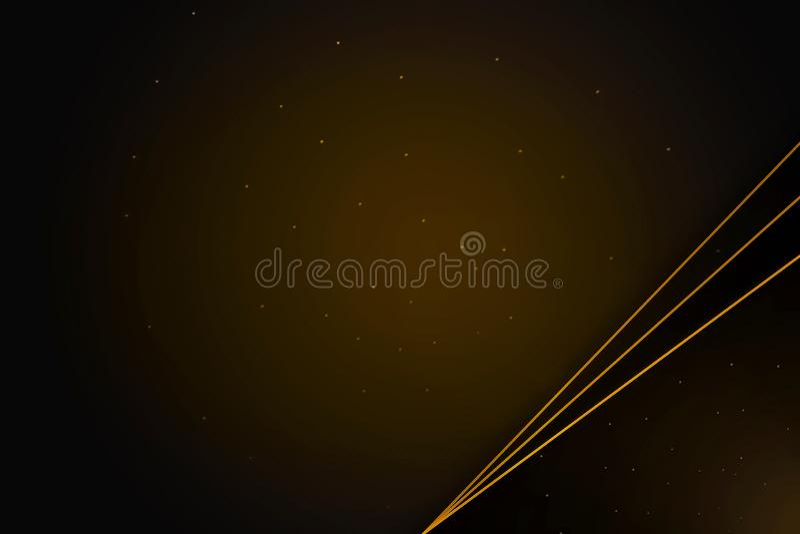 Bannière élégante avec des lignes d'or, guirlande de laurier sur le fond brun fleuri illustration stock