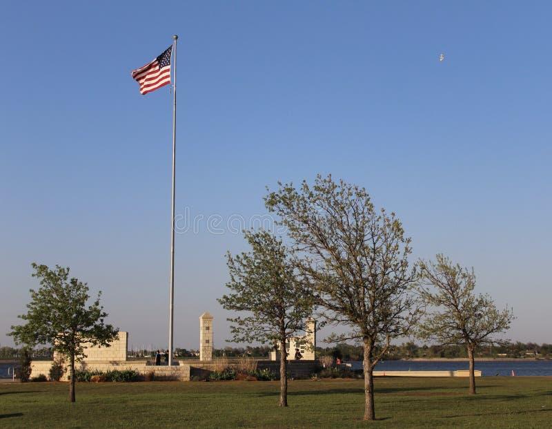 Bannière étoilée parc, Ville d'Oklahoma images libres de droits