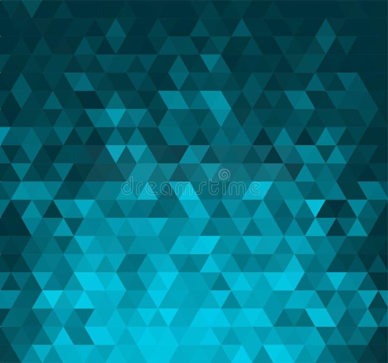 Bannière abstraite avec des formes de triangle illustration libre de droits