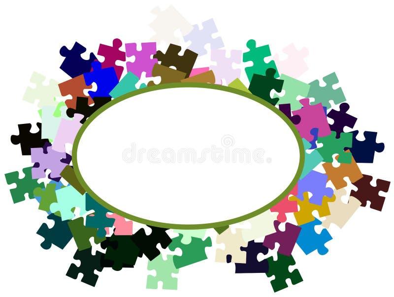 Bannière abstraite avec des morceaux de puzzle illustration libre de droits