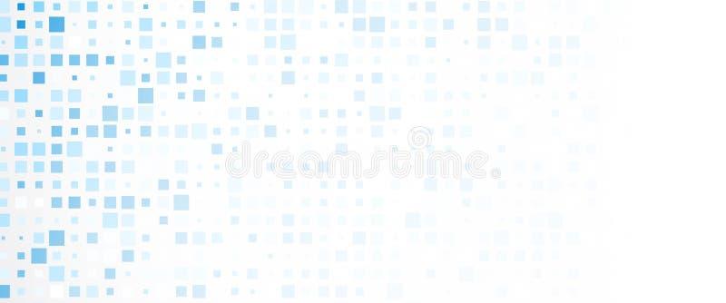 Bannière abstraite avec les places bleues illustration libre de droits