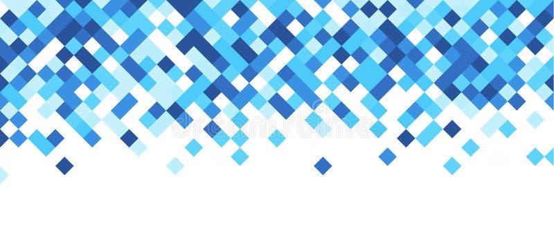 Bannière abstraite bleue et blanche illustration stock