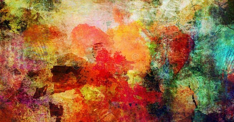 Bannière abstraite de fond de textures de peinture illustration de vecteur