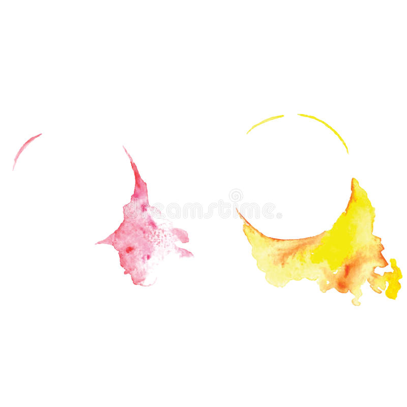 Bannière abstraite de vecteur d'aquarelle avec l'éclaboussure, élément grafic, art créatif, baner d'aquarelle, illustration libre de droits