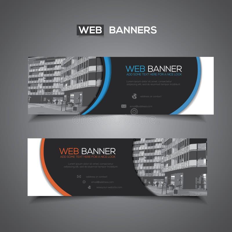 Bannière abstraite de vecteur pour le calibre de Web ou l'usage d'impression comme fond d'en-tête illustration libre de droits