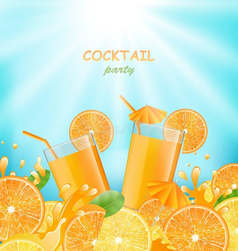 Bannière abstraite pour le cocktail illustration stock