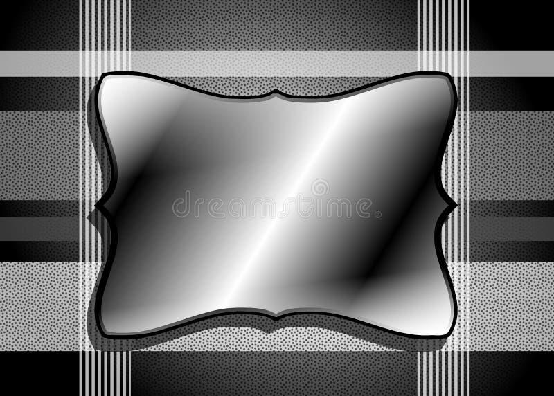Bannière abstraite sur le noir illustration stock