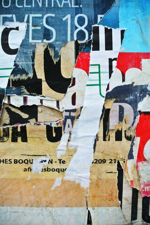 Bannière aléatoire de texture de collage sur le mur érodé images libres de droits