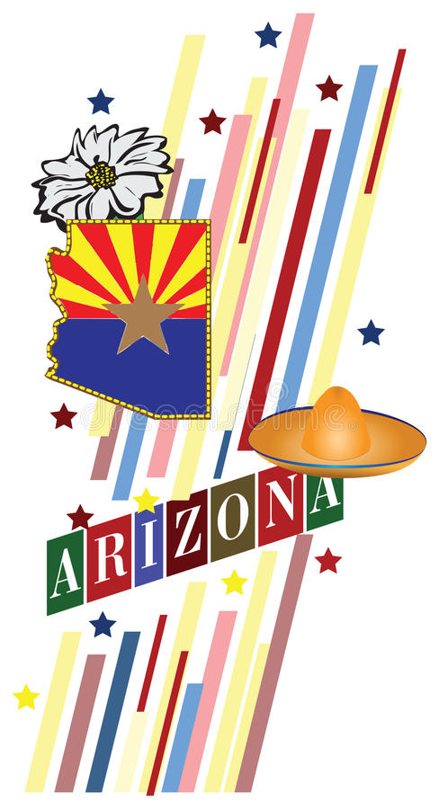 Bannière Arizona illustration de vecteur