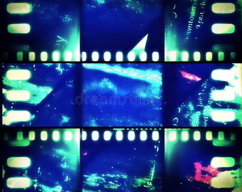 Bannière au néon d'extrait de film images libres de droits