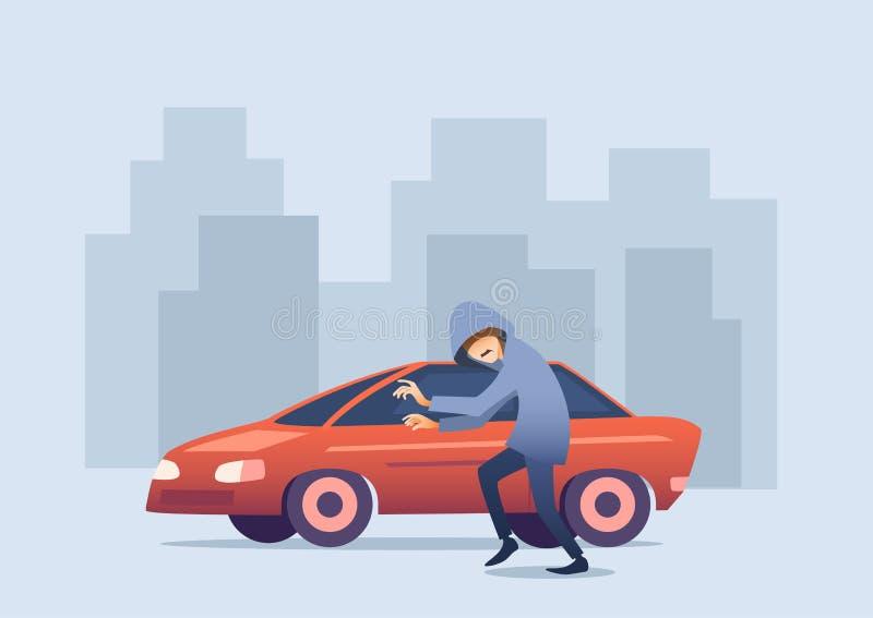 Bannière automatique conceptuelle d'assurance auto illustration de vecteur