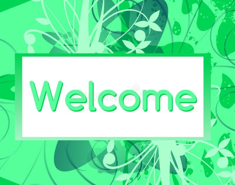 Bannière bienvenue avec l'imagination florale illustration libre de droits
