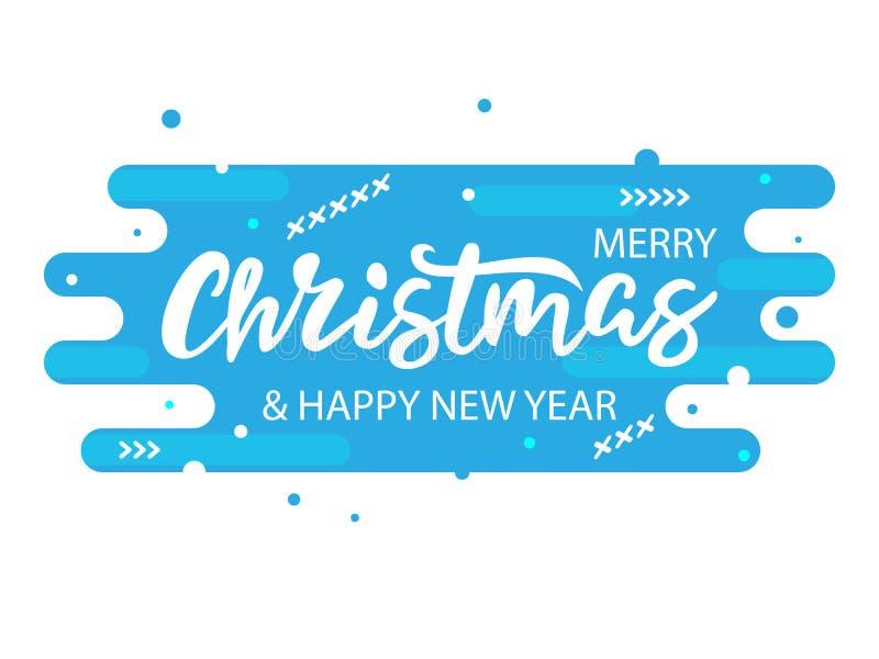 Bannière bleue moderne de Noël photos stock