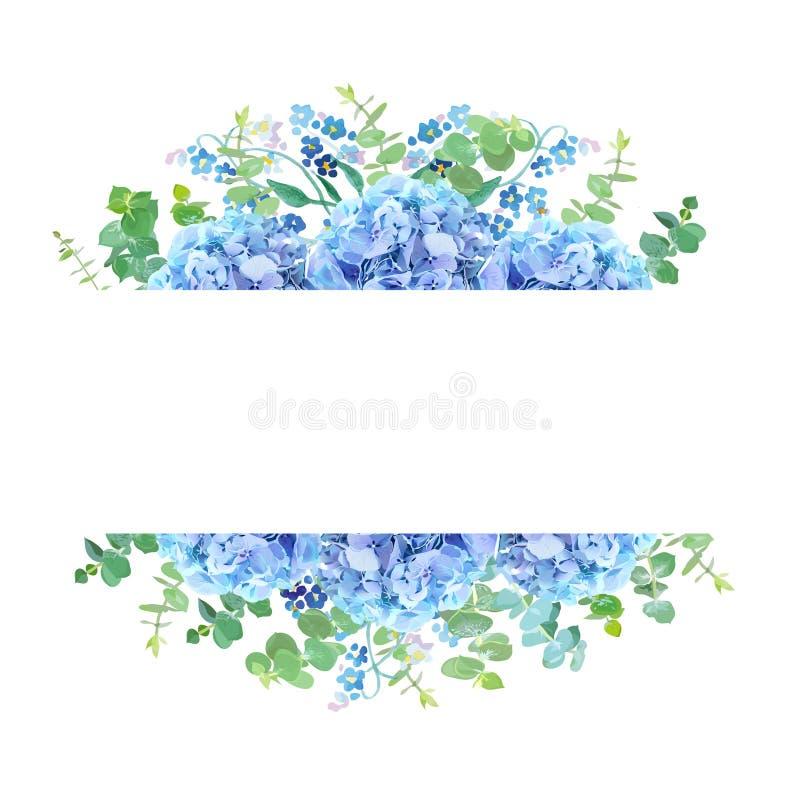 Bannière botanique horizontale de conception de vecteur illustration stock
