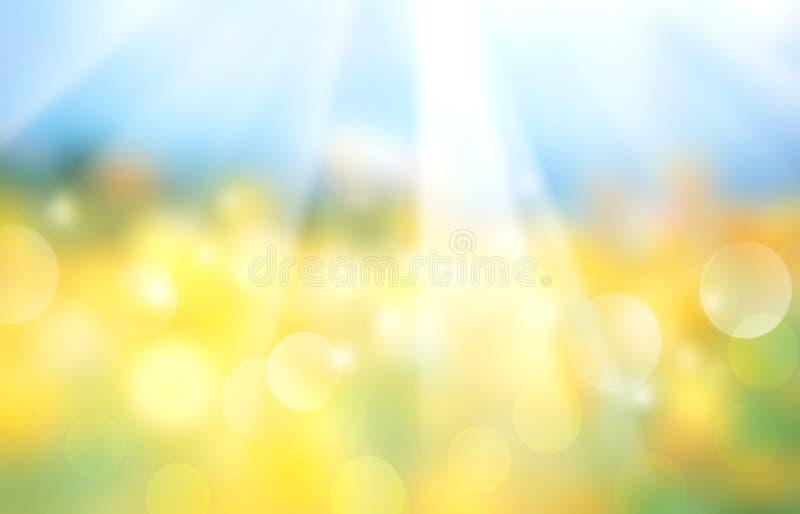 Bannière brouillée horizontale de champ de paysage illustration stock