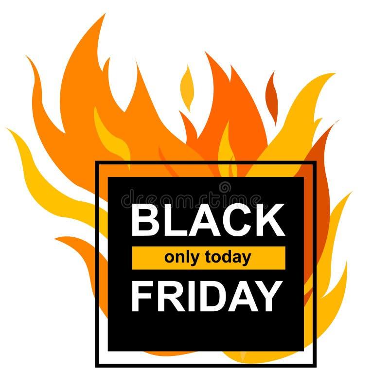 Bannière carrée avec Black Friday illustration de vecteur