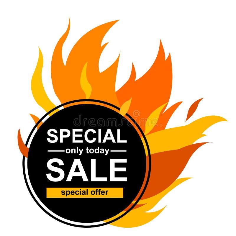 Bannière carrée avec la vente spéciale illustration stock