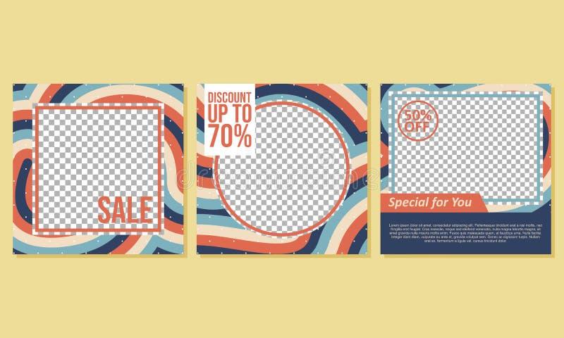 Bannière carrée créative pour votre marketing - vecteur illustration de vecteur