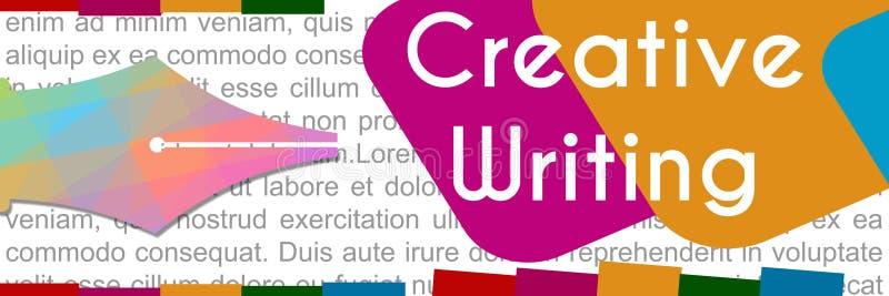 Bannière colorée d'écriture créative illustration de vecteur