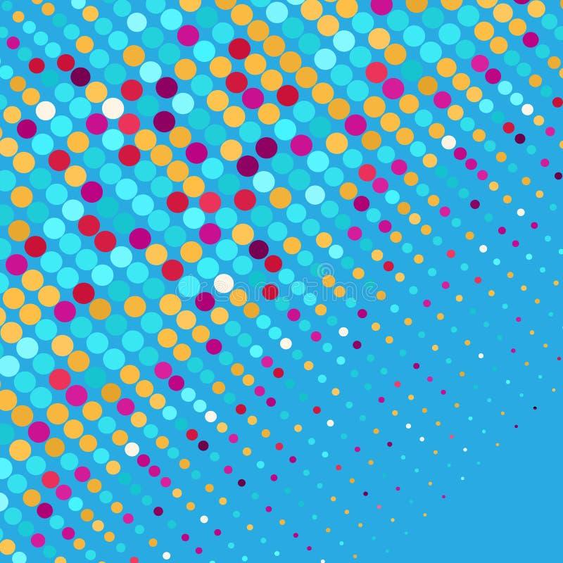 Bannière colorée de dispersion d'abrégé sur points Vecteur illustration libre de droits