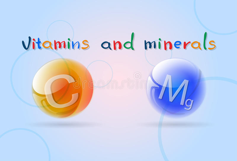 Download Bannière Colorée De Minerais De Vitamines Illustration de Vecteur - Illustration du plat, diététique: 77159010
