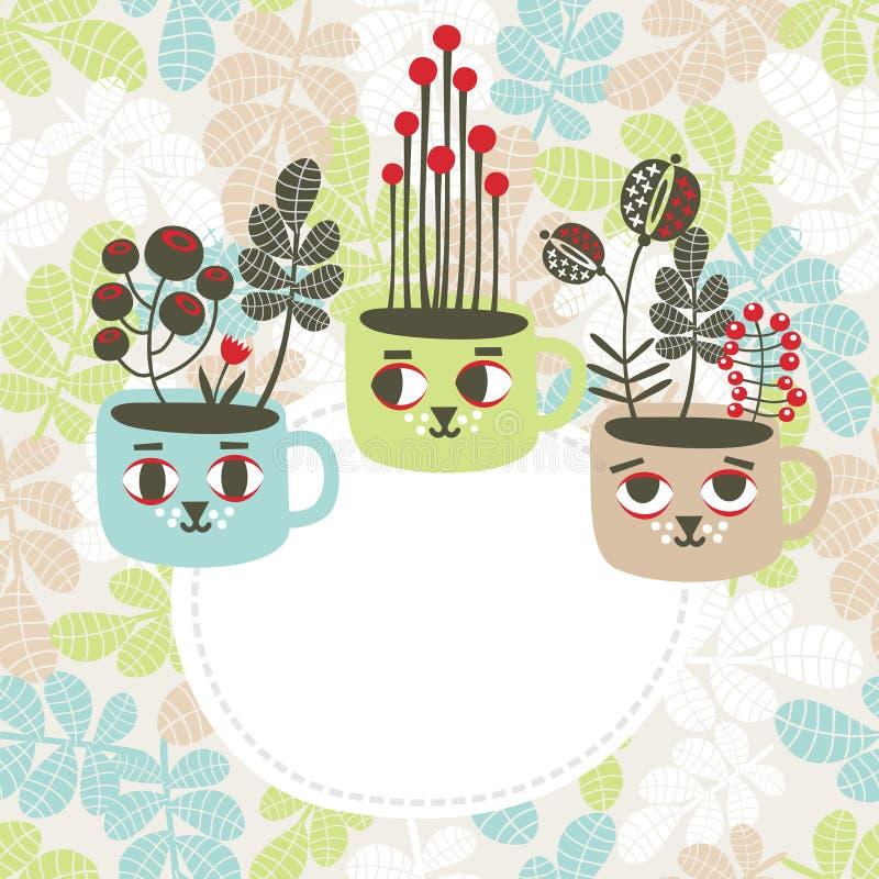 Bannière créative avec des vases. illustration stock