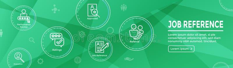 Bannière début de Web de référence d'emploi de référence et ensemble d'icône illustration libre de droits