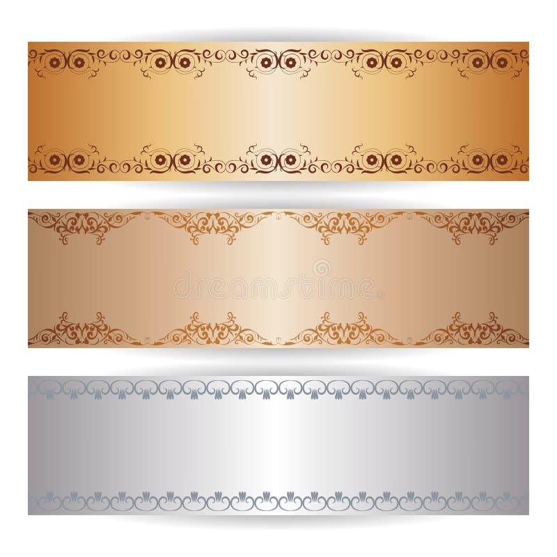 Bannière décorative avec les ornements graphiques illustration de vecteur