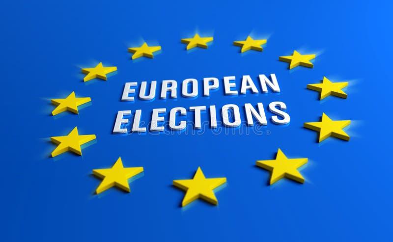 Bannière d'élections européennes illustration stock