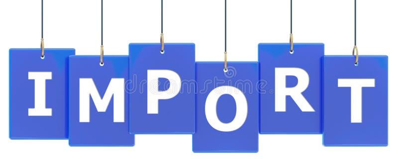 Bannière d'étiquette d'importation illustration libre de droits