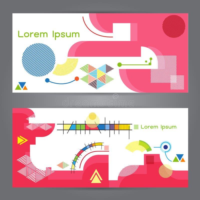Bannière d'abrégé sur polygone de la géométrie de polygone d'illustration de vecteur illustration stock