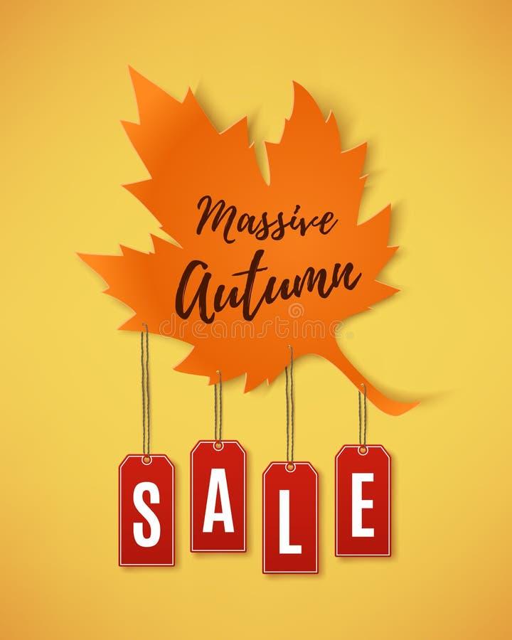 Bannière d'abrégé sur vente d'automne illustration de vecteur