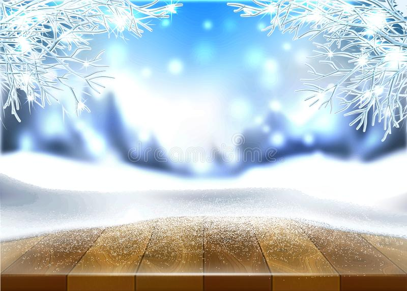 Bannière d'affiche de vacances de nouvelle année de Noël de vecteur illustration libre de droits