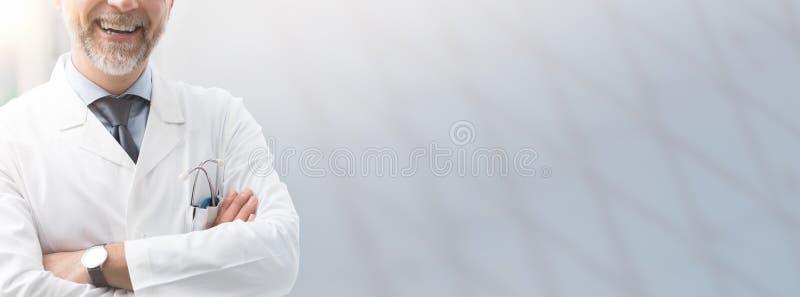 Bannière d'assurance médicale de soins de santé et maladie image libre de droits