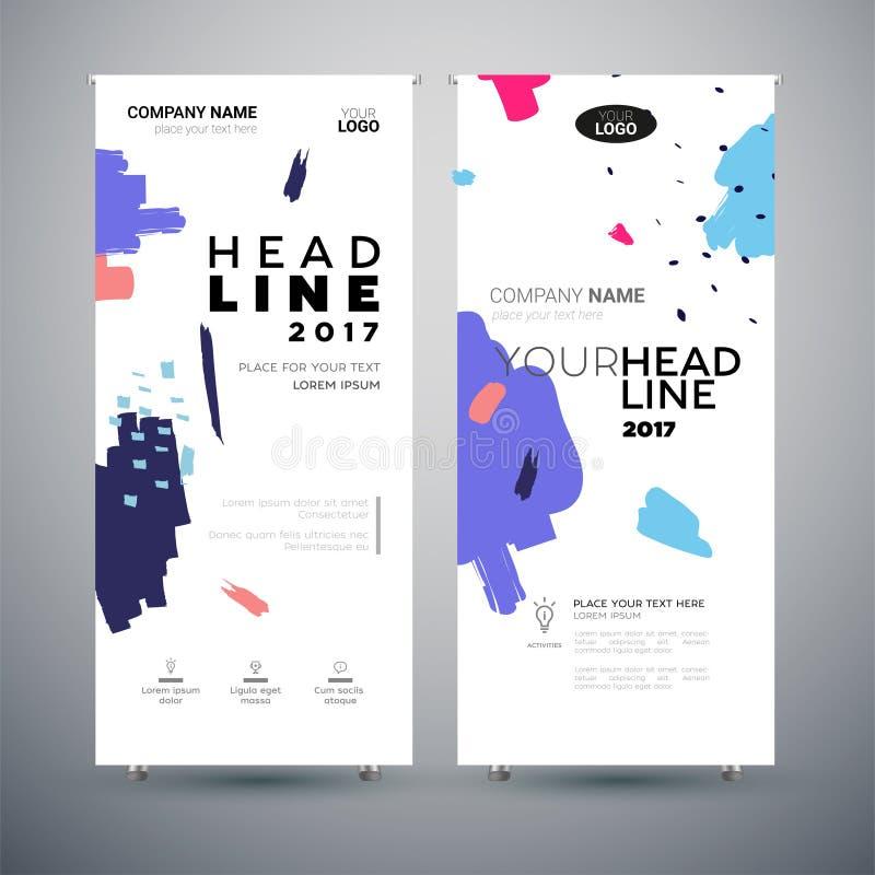 Bannière d'entreprise - ensemble d'illustrations modernes d'abrégé sur calibre de vecteur illustration stock