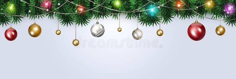 Bannière d'hiver de Noël photographie stock libre de droits