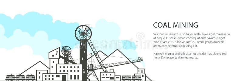 Bannière d'industrie charbonnière illustration libre de droits