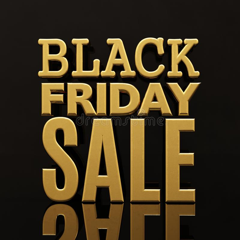 Bannière d'inscription d'or de vente de Black Friday images libres de droits