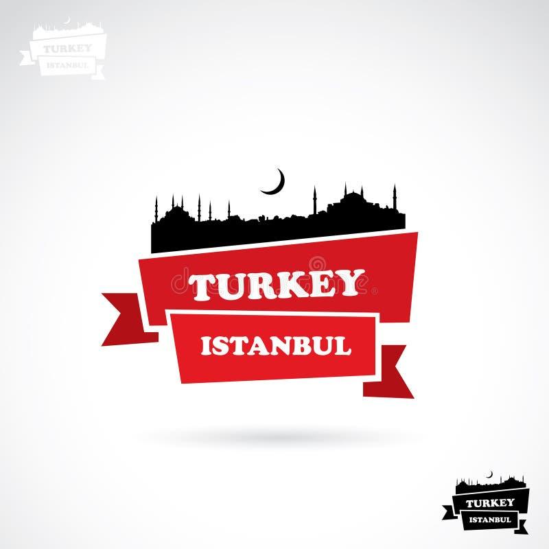 Bannière d'Istanbul illustration libre de droits
