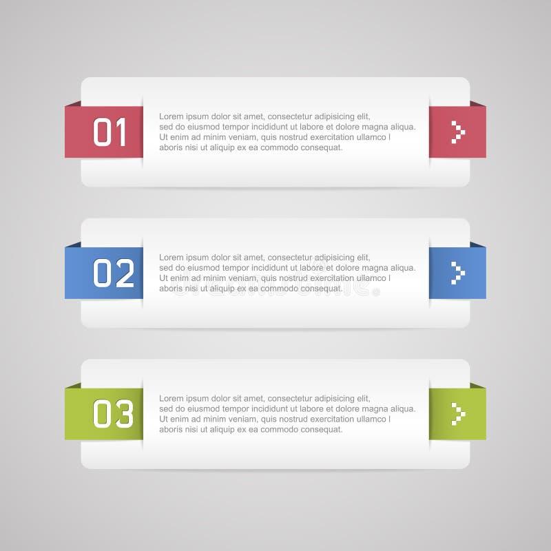 Bannière d'options d'Infographic illustration libre de droits
