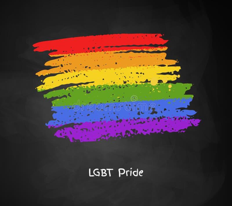 Bannière dans des couleurs de drapeau de l'arc-en-ciel LGBT illustration de vecteur