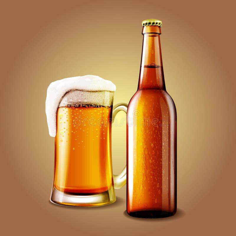 Bannière de bière illustration libre de droits