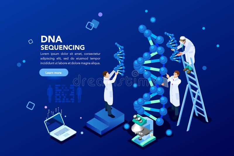Bannière de biotechnologie de laboratoire de la génétique illustration de vecteur