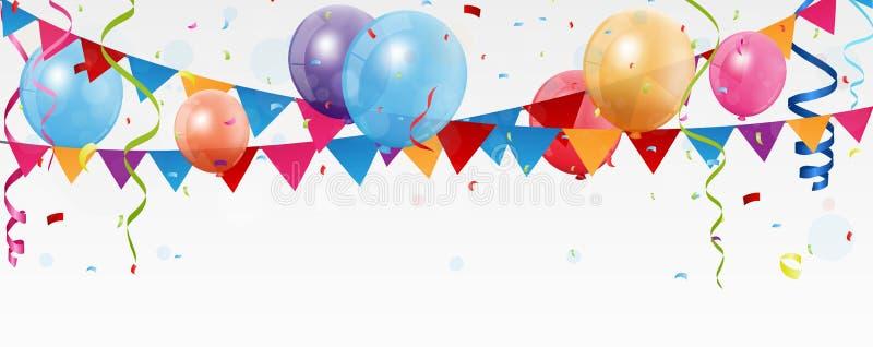 Bannière de célébration d'anniversaire illustration de vecteur