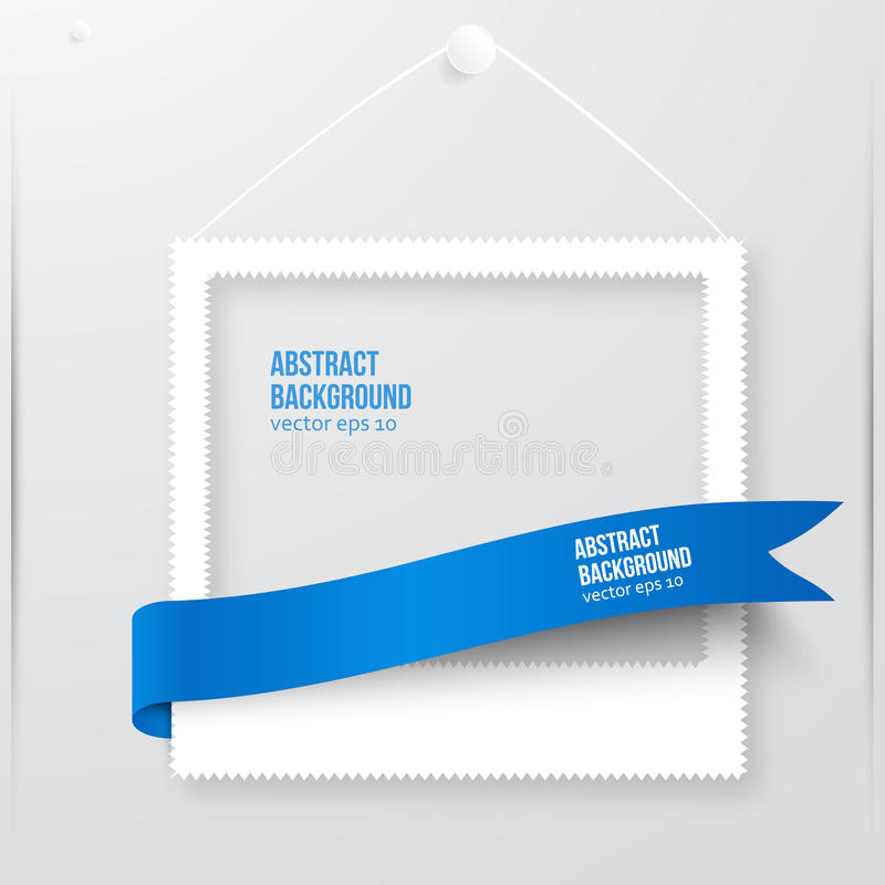 Bannière de cadre de photo de vecteur. Illustration de vecteur. illustration de vecteur