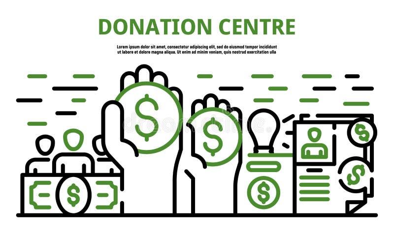 Bannière de centre de donation, style d'ensemble illustration stock